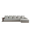 Italy Latest Design Wooden Soft Living Room Furniture Fabric Sofa Sets