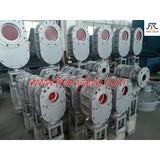 pneumatic wearable ceramic double gate valve,Double Wedge Ceramic Gate Valve,Pneumatic Ceramic Double Disc Gate Valve