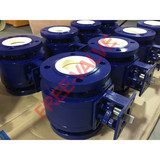 Pneumatic Actuator Flange Type Ceramic Ball Valve,ceramic ball valve