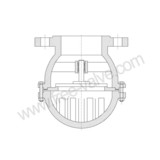Stainless Steel Bottom Valve Lift Check Valve Flange Foot Valve,Flange foot valve,bottom foot valve