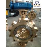 bronze flange butterfly valve,high performance bronze butterfly valve
