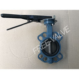 Wafer Type Rubber lining Butterfly Valve with Lever
