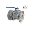 Full Bore stainless steel Flange Lining Fluorine Ball Valve