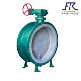 Flange type PTFE lined butterfly valve,Electric Lining Fluorine Butterfly Valve
