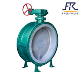 Lever type full PTFE lined butterfly valve FRD71F4
