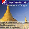 truck freight& logistics from Zhongshan to Yangon& RGN(DDP trade)