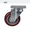 JY-402 | 4 inch 360 degree rotation red industrial caster