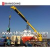 straight telescopic boom marine deck crane for loading