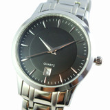 metal men watches with stainless steel bracelet,  Japan movement