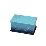Light Blue NC Flat Lacquer Wooden Packaging and Jewelry Box