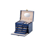 Luxury Drawer Leather Wrapped Jewelry Storage Packaging and Gift Box