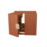 Luxury Grain PU Leather Wrapped Perfume Display Box and Cosmetic Packaging
