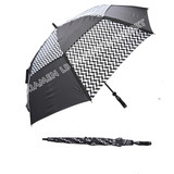 double layers wind-resistant golf umbrella with vent technology