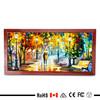 30x60cm brown wood grain slim picture frame led backlit indoor light box