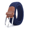 Adjustable Styles Male Knitted Elastic Belt with genuine leather ending