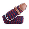 Unisex Women Men Ethnic Canvas Stretch Braided Elastic Belt