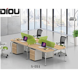 Guangzhou manufacturer fashion office desk workstation for 4 person