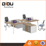 office furniture fashion type and wooden panel type office desk for 2 person