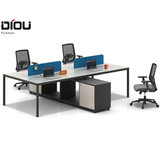 new modern office desk design in wood with file commode furniture