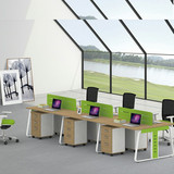 6 person workstation Of Six seater wooden Office  Furniture Desk and Chair Of Staff Table Of Writing Desk with Drawers
