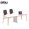 Simple design MFC melamine meeting room office furniture conference table with stainess leg