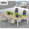 Customized table office staff table with high quality stainless steel table legs