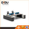 Customized table office furniture staff table with solid steel leg