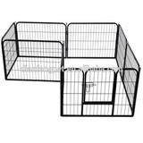 8 Panel Metal Pet Dog Animal Cat Exercise Playpen Fence Enclosure Cage