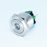 25mm Anti vandal waterproof dust resistant IP67 dot led metal push button switches