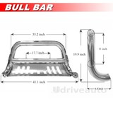 Stainless Bull Bar Front Bumper Fit 2014-2016 GMC Sierra 1500