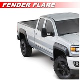 Black Textured Pocket Style Fender Flares For 2007-2013 Toyota Tundra