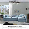 Alibaba living room furniture sofa sets modern new design cheap fabric L shaped sectional sofa