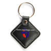 rfid leather key tagkeyfob with metal chain 13.56MHz MF 1KS50 chips