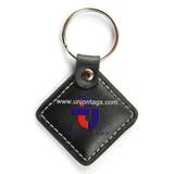 rfid leather key tagkeyfob with metal chain 13.56MHz MF 1KS50 chips