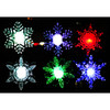 LED window suction  christmas snowflake decoration light color-change snowflake design