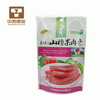 Snack foil bag with zipper and stand up bag
