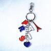 Metal PARIS Keyrings