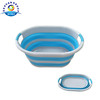 New Silicone Collapsible Laundry Basket Plastic Folding Clothes Storage Basket