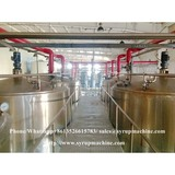 Fullly automatic liquid syrup manufacturing plant