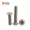 flat six-lobe tamper head stainless steel machine screw