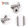 stainless steel hex socket flat head self tapping screw