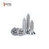 Factory price Din7982 stainless steel phillips flat  head self tapping screws