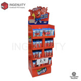 candy corrugated cardboard display stand for retail