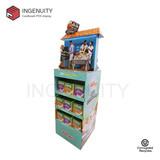 floor standing cardboard retail display for foods