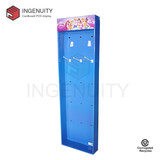 Corrugated cardboard power wing display for hair accoessories SID-SD-009