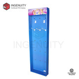 Corrugated cardboard power wing display for hair accoessories SID-SD-009,Cardboard Power Wing Display,Paper Power Wing Display