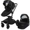 European Style Baby Pram PU Leather Baby Stroller 3 In 1