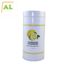Tea Packaging Round Shape Tin Can With Double Lid
