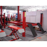 low cost manual lock release 4 post car lift 4000kgs/1800mm