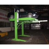 low cost high rise two post hydraulic car parking lift 2700kg with electric lock release